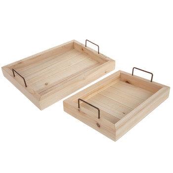 Slatted Wood Trays
