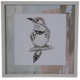 Pastel Spotted Bird Framed Wall Decor