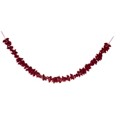 Red Leaves & Wood Beads Garland