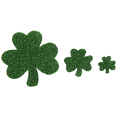 Glitter Shamrock Foam Stickers