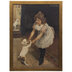 Dancing With A Puppy Framed Wall Decor