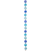 Turquoise & Blue Gemcut Glass Bead Strand - 10mm