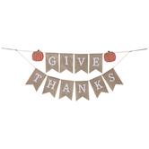 Give Thanks Pumpkin Pennant Banner