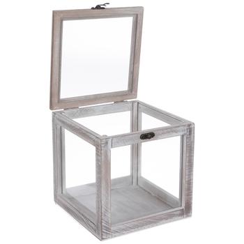 Whitewash Wood Jewelry Box