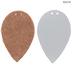 Black Dots & Rose Gold Leaf Leather Earring Blanks