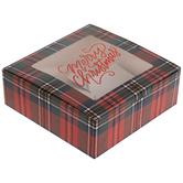 Plaid Merry Christmas Treat Boxes