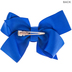 Royal Blue Grosgrain Bow Hair Clip
