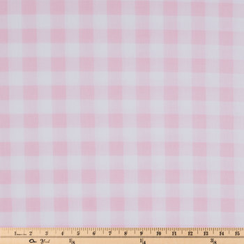 Pink Buffalo Check Apparel Fabric