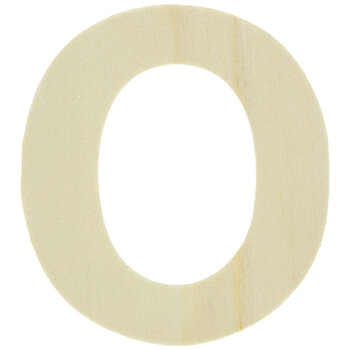 """Wood Letters O - 4"""""""