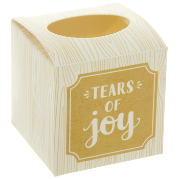 Wood Print Mini Tissue Boxes