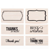 Thank You Rubber Stamps