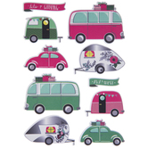 Glamping Puffy Stickers
