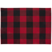 Red & Black Buffalo Check Placemat