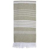Striped & Fringed Kitchen Towel