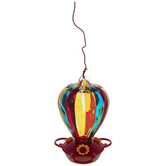 Hot Air Balloon Glass Hummingbird Feeder