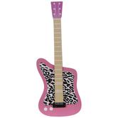 Pink & Leopard Print Guitar Wood Shape
