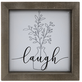 Laugh Botanical Tile Metal Wall Decor