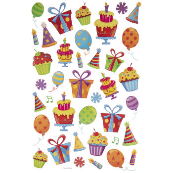 Gifts & Balloons Glitter Stickers