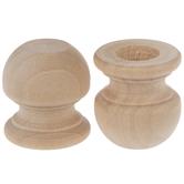 Wood Finial Dowel Caps