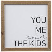 You, Me & The Kids Wood Wall Decor