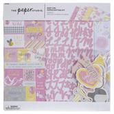"Baby Girl Scrapbook Kit - 12"" x 12"""
