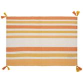 Orange, Yellow & White Striped Placemat