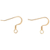 18K Gold Plated Flat Ear Wires - 18mm