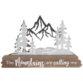 The Mountains Are Calling Me Wood Decor