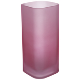 Pink Frosted Glass Vase