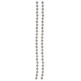 Floral Diamond Bead Strands - 6.8mm x 6.2mm