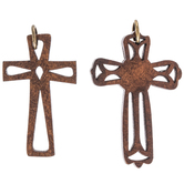 Wood Cross Pendants
