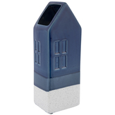 Dark Blue House Vase