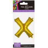 Gold Foil Letter Balloon - X
