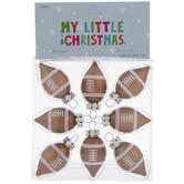 Mini Football Bulb Ornaments