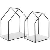 House Metal Wall Shelf Set