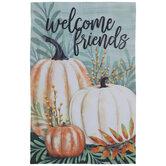 Welcome Friends Pumpkin Garden Flag