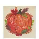 1 Thessalonians 5:18 Pumpkin Napkins - Large