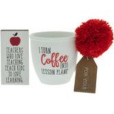 Turn Coffee Into Lesson Plans Mug & Wood Decor