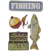 Fishing 3D Stickers
