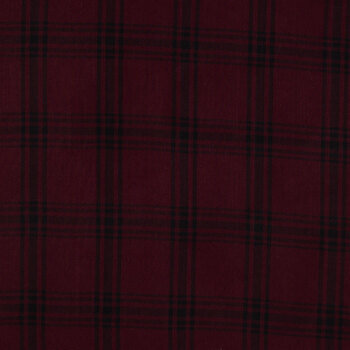 Maroon & Black Plaid Apparel Fabric