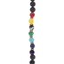 Faceted Ball & Lava Bead Strand