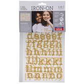 Glitter Letter Iron-On Applique Alphabet