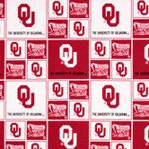 Oklahoma Block Collegiate Cotton Fabric
