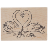 Loving Swans Rubber Stamp