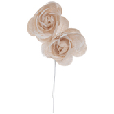 Light Peach Lace Flower Pick