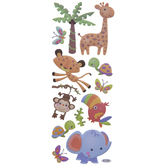 Zoo Friends Puffy Stickers