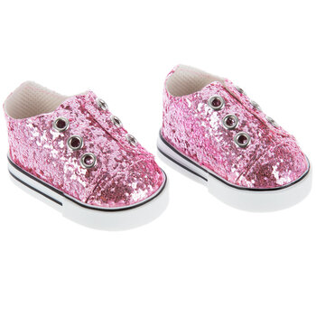 Pink Glitter Doll Shoes