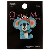 Blue Happy Koala Pendant
