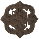 Brown Flourish Metal Tieback