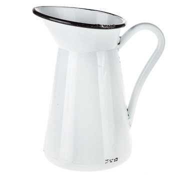 White Rustic Metal Pitcher